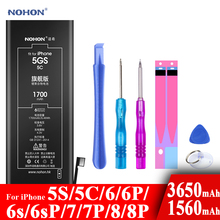 Nohon Battery For Apple iPhone 5S 5C 6 6s 7 8 Plus 6P 6sP 7P 8P Li-polymer Batteries +Tools For Apple iPhone 5S 5C 6 6s 7 8 Plus cheap 1301mAh-1800mAh Compatible MSDS ROHS Apple iPhones NOHON 1700mAh For iPhone 5S 5C iPhone5S iPhone5C iPhone5GS For Apple iPhone 5s 5c