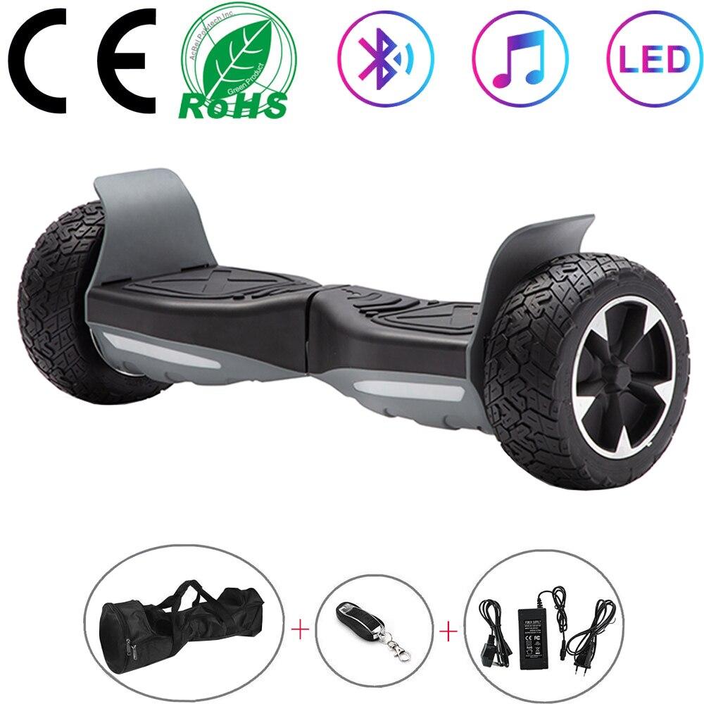 Hoverboard 8.5 Cal czarny terenowy własny równoważenie skutery Off-road skutery elektryczne dwa koła balans deski prezenty dla dzieci