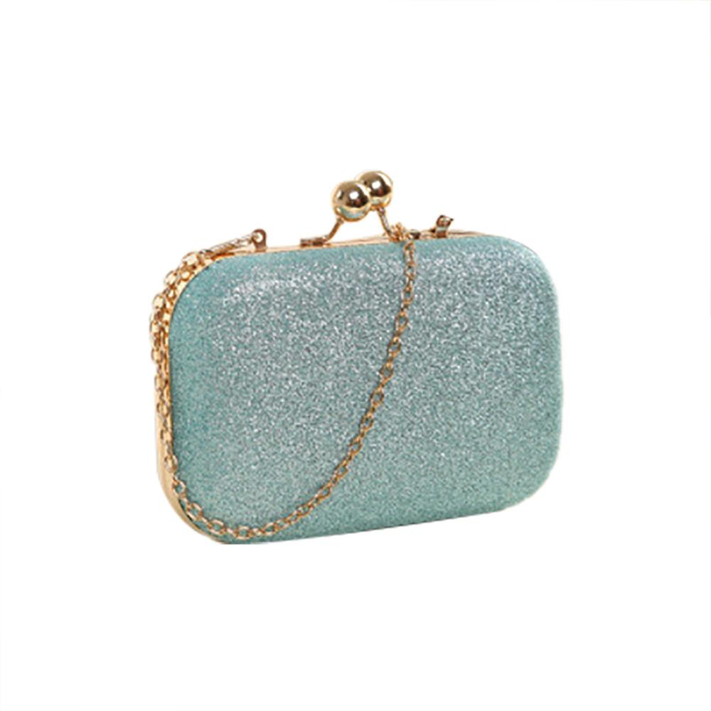Women Bags Elegant Evening Clutch Bag New Female Handbag Double Chain Mini For Cocktail Party Silver Simple Versatile