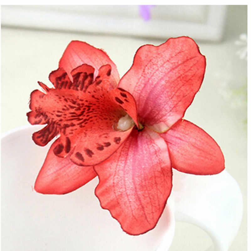שיער אביזרי חוף 6 צבעים Choosed בוהמיה סגנון סחלב אדמונית פרחי שיער קליפים סיכות לנשים
