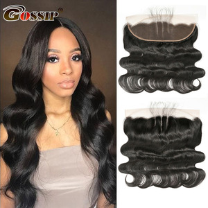 Body Wave 13×4 Lace Frontal Closure Natural Color Closure Gossip 100% Remy Human Hair Closure Piece Brazilian Hair Brown Frontal