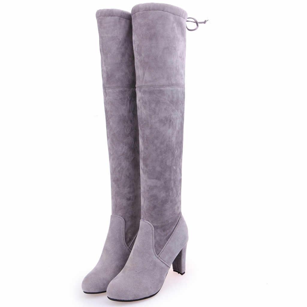 สตรีโรมทึบขนาดใหญ่ Chunky รองเท้าส้นสูง Lace Up รองเท้ายาว 2019 ฤดูใบไม้ผลิฤดูใบไม้ร่วงใหม่เรียบง่ายแฟชั่นรองเท้า
