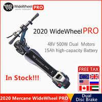 2020 New Mercane WideWheel Pro Smart Electric Scooter 48V 1000W Kickscooter Wide Wheel Dual Motor Disc Brake Skateboard