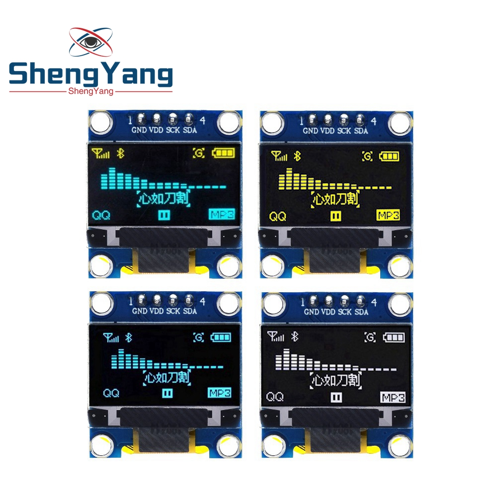 0.96 inch IIC Serial Yellow Blue OLED Display Module 128X64 I2C SSD1306 12864 LCD Screen Board GND VDD SCK SDA 0.96