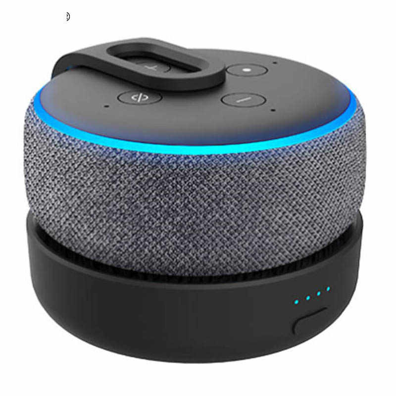 GGMM Asli Portable Battery Base untuk Amazon Echo Dot 3rd Gen Rechargable Docking Station untuk Alexa Speaker dengan 8 Jam bermain