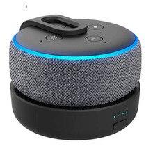 GGMM Original Portable Battery Base For Amazon Echo Dot 3rd Gen Rechargable Docking Station For Alexa Speaker with 8 Hours Play