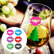 Lips PVC Wine Glass Tag Wine Glass Marker Beautiful Table Pendants Cup Lovely Gifts Festival Kitchen Party Wine Glass Label(China)