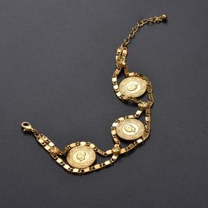 Image 3 - Length 24CM Turkey Coin Bracelet for Women Gold Color Turks Simgesi Osmanli Turasi Muslim Islam Bangle Arab Jewelry African