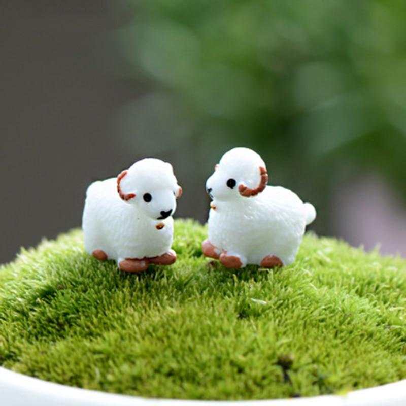 Lovely Sheep Goat Mutton Jumbuck Prairie Small Statue Decoration Accessories Miniature Child Toys Decor Crafts Figurines