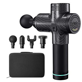 Massage Gun Professional Deep Tissue Massager for Muscle Tension Relief with 3 Variable Speeds & 4 Replaceable Massage Heads Bag