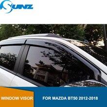 Side Window Deflector For Mazda Bt50 2012 2013 2014 2015 2016 2017 2018 2019 Window Visor Vent Shades Sun Rain Deflector SUNZ sun rain deflector guardfor vw golf 7 mk7 2014 2015 2016 2017 window visor vent shades awnings car styling accessories 4 pcs