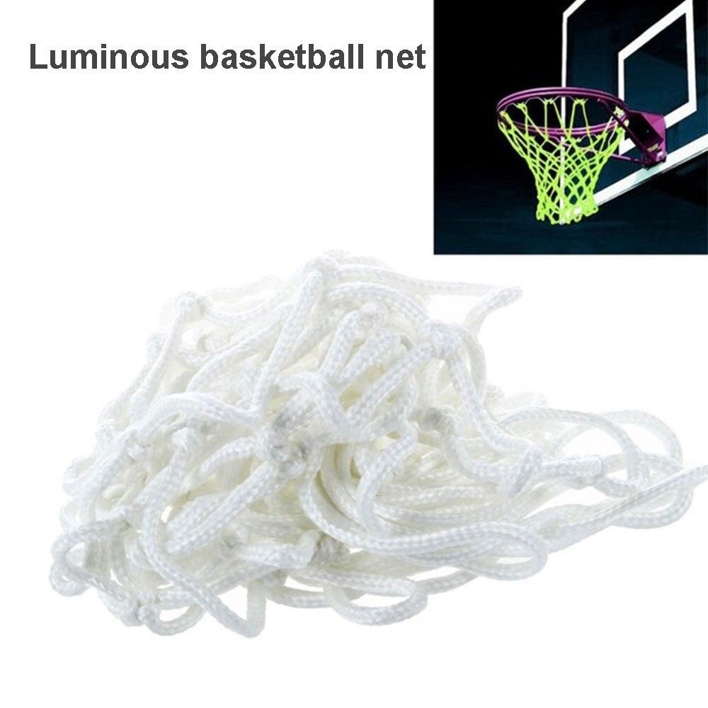 Backboard Basketball Net Luminescence Athletic Sports Match White Nylon Basket Net Outdoors