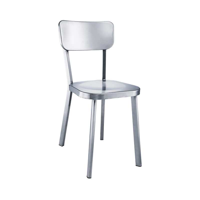 Metal Dining Chair Thickened Aluminum Alloy Backrest  Leisure Stools Nordic Household Office Chairs Dining Room Modern,W