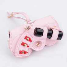 Ins Popular Cute Multi-function Eyeglasses Case Personality PU Leather Glasses Bag Women Sunglasses Storage Protection