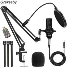 bm 800 Condenser Microphone Pc Professional 3.5mm Wired Computer bm800 Mic Gaming With Boom Arm Stand and Pop Filter Mikrofon BM