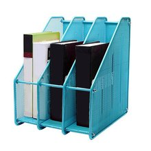 Office Supplies Metal Wire Mesh Triple File Holder Tray Book Information Frame Storage Rack
