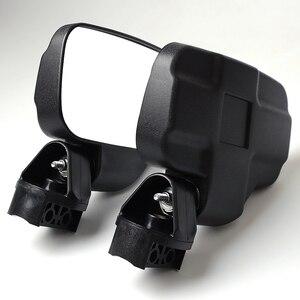 """Image 2 - Utv espelho retrovisor espelho lateral com 1.75 """"/2"""" barra de rolo gaiola apto para polaris ranger e rzr 4 e xp 4 barras transversais superiores 2"""""""
