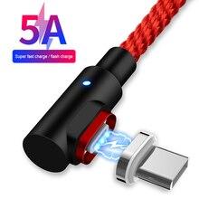 Магнитный Micro USB 8 Pin кабель для iPhone samsung Android мобильный телефон Быстрая зарядка usb type C кабель магнит зарядное устройство провод шнур