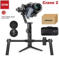 Zhiyun Crane 2 3 osiowy stabilizator kardana ręczna z Follow Focus 3.2Kg wyświetlacz OLED 18 godzin długi czas pracy dla Canon 5D4 3 w Ręczny gimbal od Elektronika użytkowa na