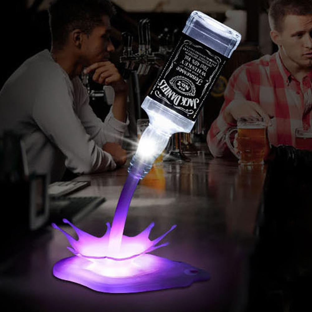 Portable Touch Switch 3D USB Power Bottle Lamp Bar Party LED Bottle Pour Wine Home Decoration Bedside Lighting Night Light