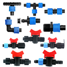 """Fast Shipping 5/8"""" Swivel Drip Tape Connector Mini Valve Elbow Tee Starter End Plug Repair Coupler  Watering Drip Fittings"""