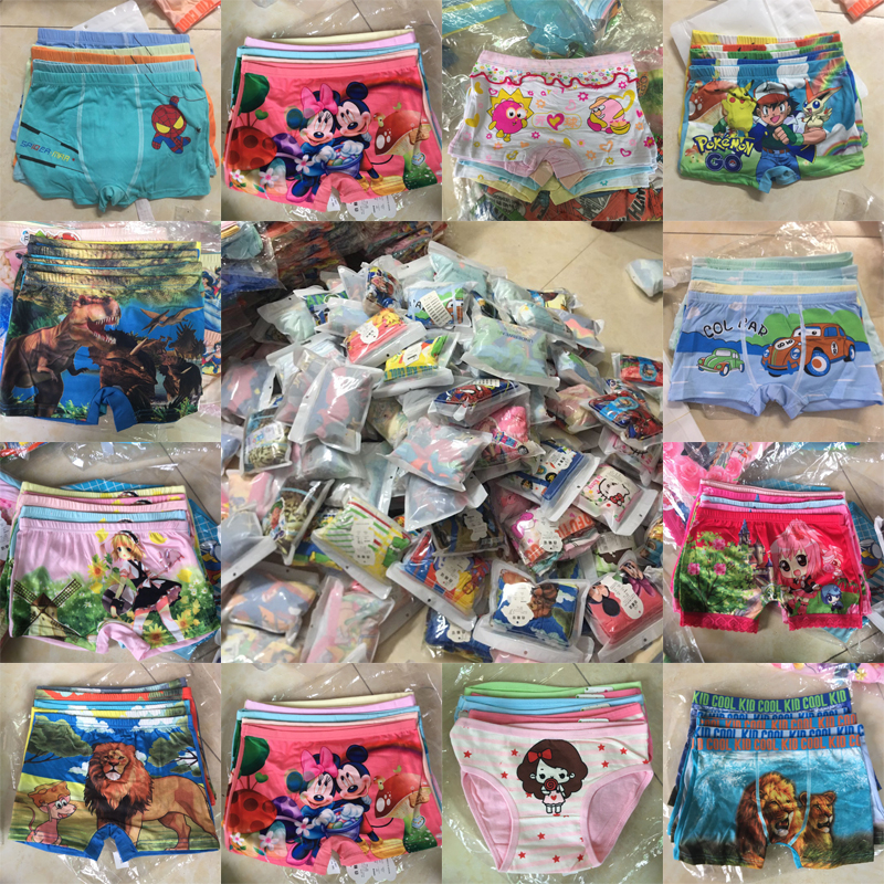 5pcs/lot Girls Underwear Panty Teenagers Infant Kids Baby Girl Clothes Boys Panties Boxer Briefs Princess For 3-11 Y Underpants