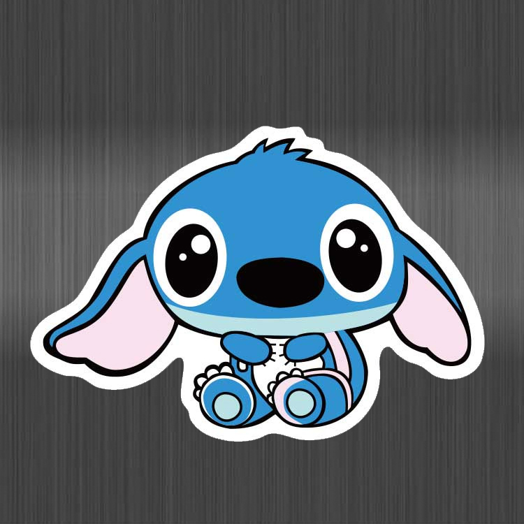 Cartoon Stitch Stickers Funny Cute Stickers Waterproof PVC For Suitcase Laptop Guitar Luggage Skateboard Bicycle Kids Sticker