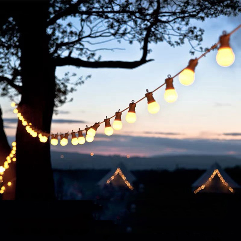 8m 13m G50 LED Globe Bulb Festoon String Lights Outdoor Waterproof Ball String Christmas Garland Wedding Garden Party