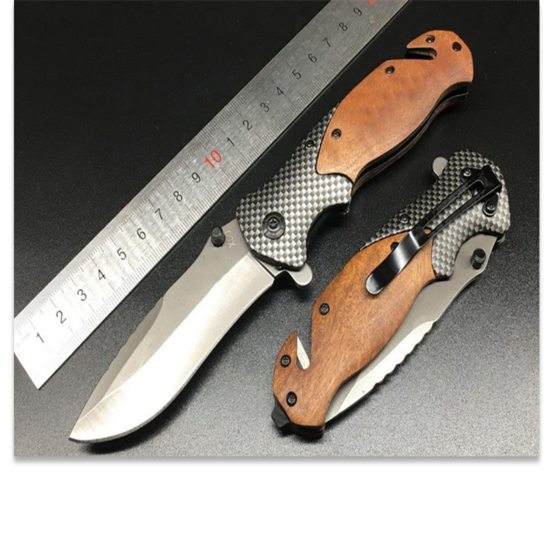 Stainless Steel Portable Scout Folding Knife Pocket Compact Tactical Outdoor Camping Hunting Survival Rescue Knife Folding Knife