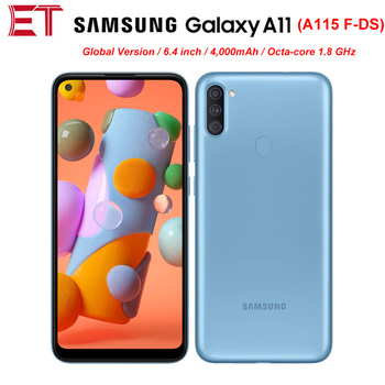 "New Samsung Galaxy A11 A115F-DS Dual SIM 2GB RAM 32GB ROM Mobile Phone 6.4"" OctaCore Android10 13MP 4000mAh Global Version Phone"