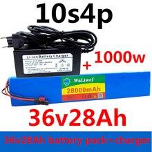 36В аккумулятор 10S4P 28Ah 18650 аккумулятор 1000 Вт 42 в 28000 мАч для электровелосипеда с BMS + зарядным устройством 4,5