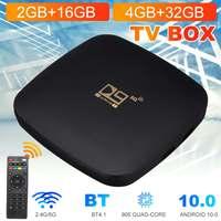 4GB 32GB 2G 16G Android 10,0 TV BOX D9 TV Box 2,4G 5GWIFI 905 Core 4K bluetooth TV empfänger Schnelle Set Top Youtube Set