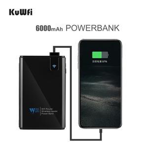 Image 3 - Kuwfi ワイヤレスデータ共有電源銀行旅行ルータ、ワイヤレス sd カードリーダー接続ポータブル ssd ハードドライブ iphone アプリ