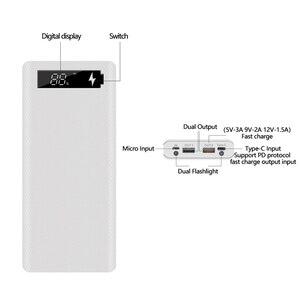 Image 5 - Hızlı şarj sürüm 5V çift USB 8*18650 taşınabilir güç kaynağı kılıfı cep telefonu şarj cihazı QC 3.0 DIY kabuk 18650 pil tutucu şarj kutusu