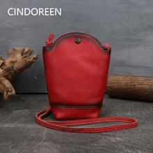 Сумка из натуральной кожи cindoreen женская сумка через плечо