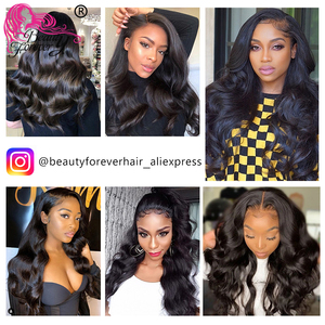 Image 5 - Beauty Forever Brazilian Body wave Hair Bundles With Lace Frontal 13*4 High Ratio Lace Frontal Remy Human Hair