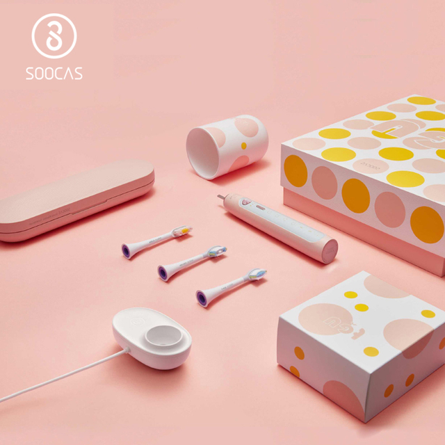 SOOCAS X5 Electric Toothbrush Ultrasonic Toothbrush Upgraded Adult Rechargeable 12 Clean Modes With Brush head Wireless Charging