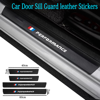 4pcs Car Door leather Stickers Sill Guard For BMW 3 Series F30 F31 2012-18 318i Scuff Plate Pedal Cover Trim Auto Accessories image