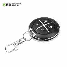 Kebidu controle remoto de 433mhz, controle remoto para portão, sem fio, rf, 4 canais, clonagem elétrica, para portão, porta de garagem e carro, chaveiro