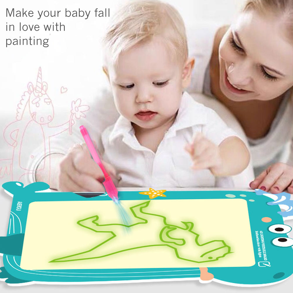 A3 multifunctional 2 in 1 fluorescent painting board writing drawing sketch handwriting board children's glowing magic graffiti