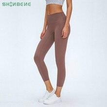 Shinbene clássico 3.0 versão sem camelo toe esporte fitness capri calças mulheres nu sentir squatproof camo ginásio yoga collants cortados