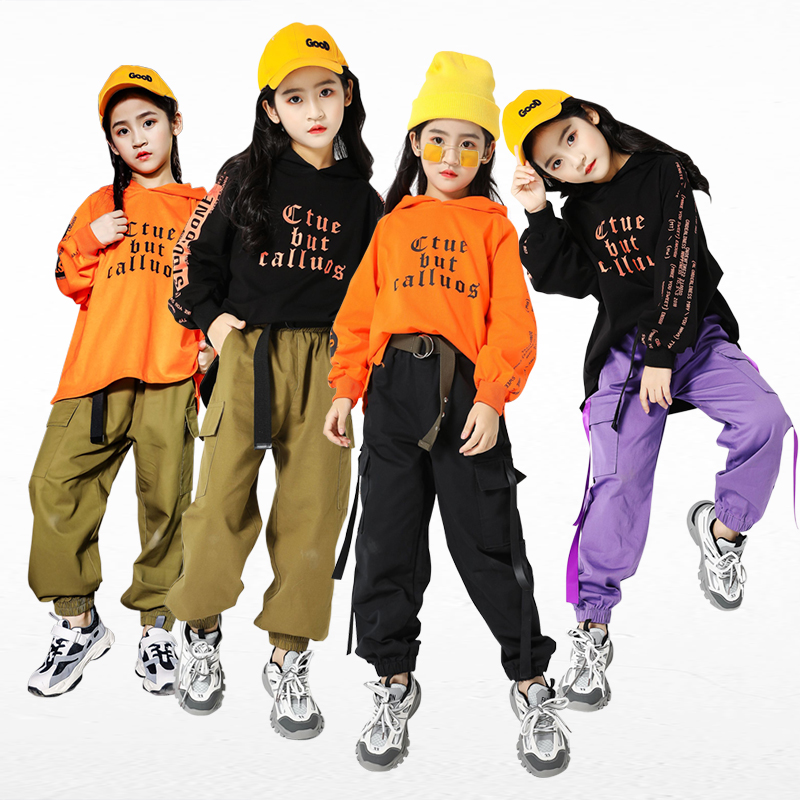 New Children Hip Hop Street Wear Kids Jazz Dance Costume Boy's Hiphop Clothing Competition Performance Clothes Girls Outfit 1403