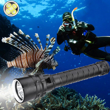 7600lums Diving for Flashlight Torch 5*T6 Dive Torch 200M Underwater Waterproof