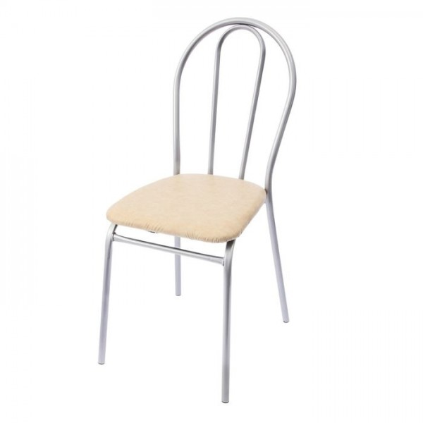 Стул металлический с жесткой спинкой и мягким сиденьем, титан, цвет в ассортименте