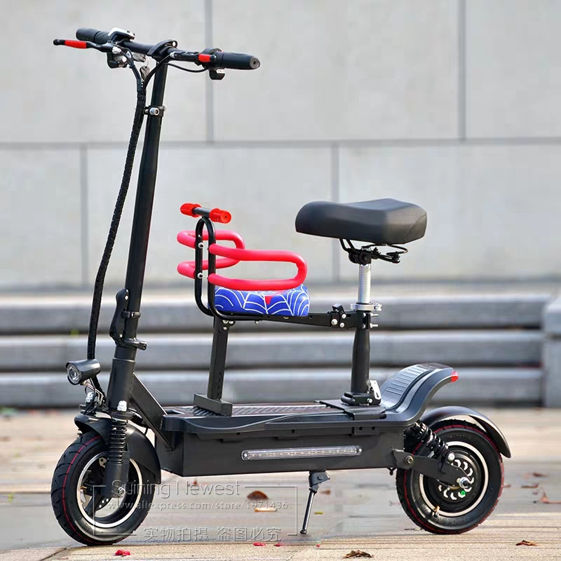Adults Ride Mini Electric Bike With Kids Seat E Scooter Skateboard Folding Bicycle Outdoor Sports Portable Kick Scooter