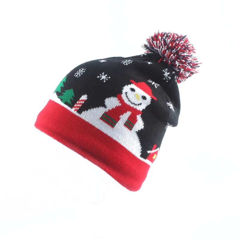Cartoon Snowman Cute Baby Beanie Kids Winter Hat For Christmas Gift Birthday Present Children Warm Cap