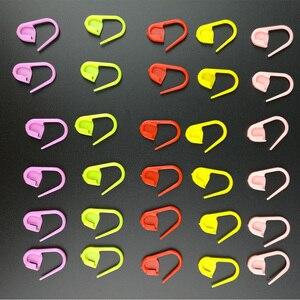 Bezpieczeństwa szpilki kolorowe z tworzywa sztucznego szpilki narzędzie DIY sweter Mark tkania narzędzia do robótek ręcznych sweter szydełkowy igły hak klip