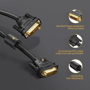 Image 2 - Câble Ugreen DVI DVI D câble vidéo mâle à mâle 2K DVI D 24 + 1 adaptateur double liaison 1m 2m 5m 10m 15m pour projecteur HDTV Cabo DVI D