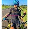Das mulheres longas calças Ciclismo Skinsuit Maillot Ropa ciclismo Triathlon curto de Manga comprida Casal Bicicleta Jersey define Macacão 10