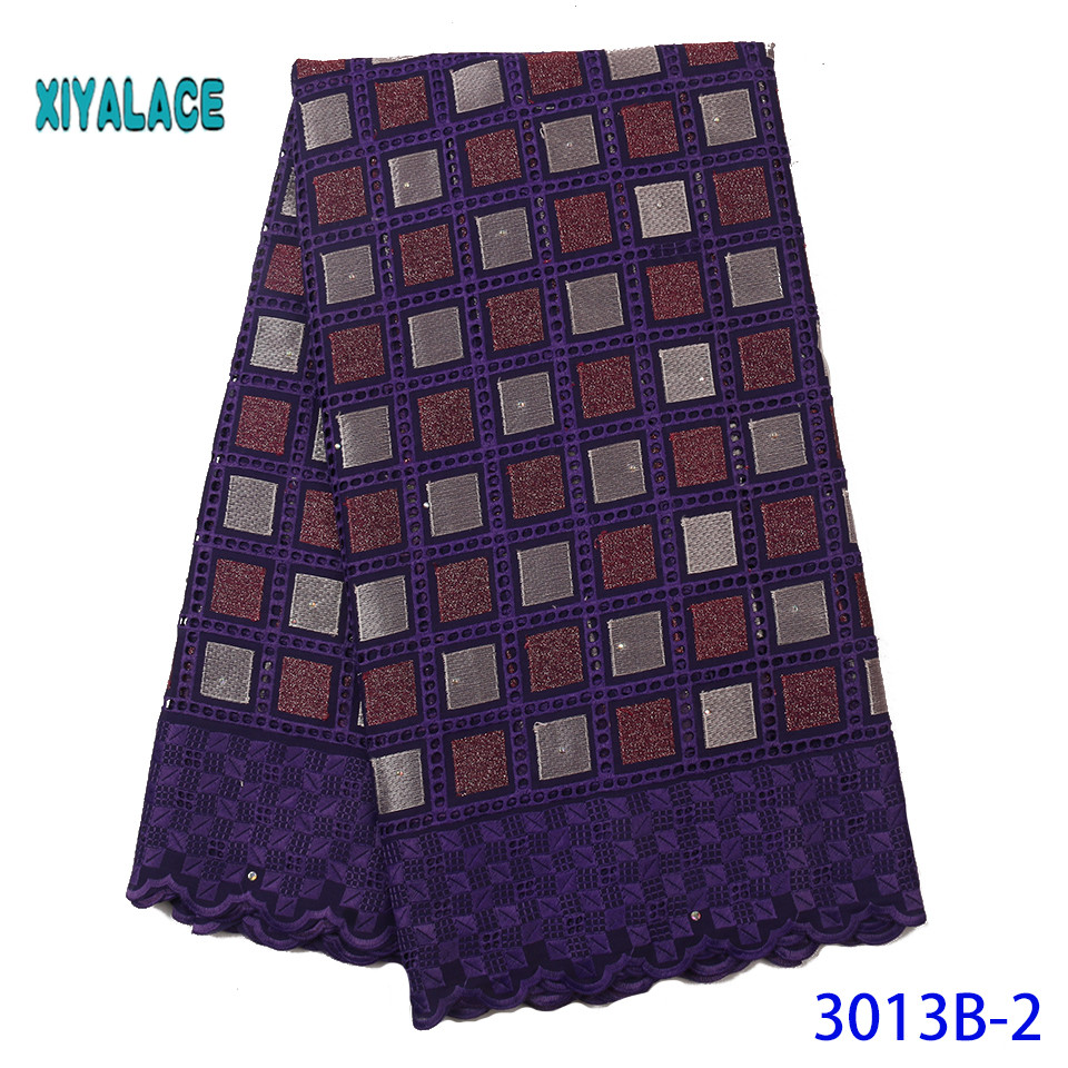 Luxury African Mesh Lace Fabrics 2019 High Quality Nigerian French Tulle Lace With Stones Net Lace Fabric YA3013B-2